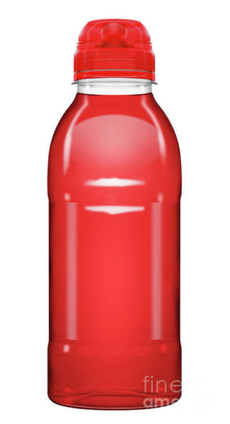 Wall Art - Digital Art - Sports Vitamin Drink Plastic Bottle by Allan Swart