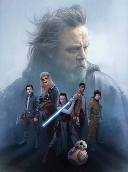 Star Wars Wall Art - Digital Art - Star Wars The Last Jedi  by Geek N Rock