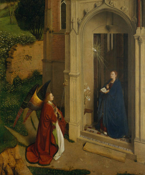 Painting - The Annunciation by Petrus Christus