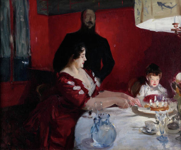 Wall Art - Painting - The Birthday Party by John Singer Sargent