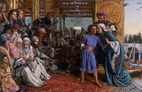Wall Art - Painting - The Finding Of The Saviour In The Temple by William Holman Hunt