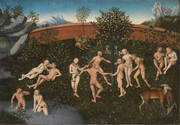 Wall Art - Painting - The Golden Age  by Lucas Cranach the Elder