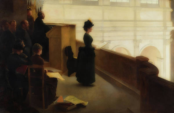 Wall Art - Painting - The Organ Rehearsal by Henry Lerolle