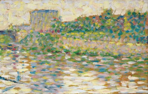Wall Art - Painting - The Seine At Courbevoie by Georges Seurat