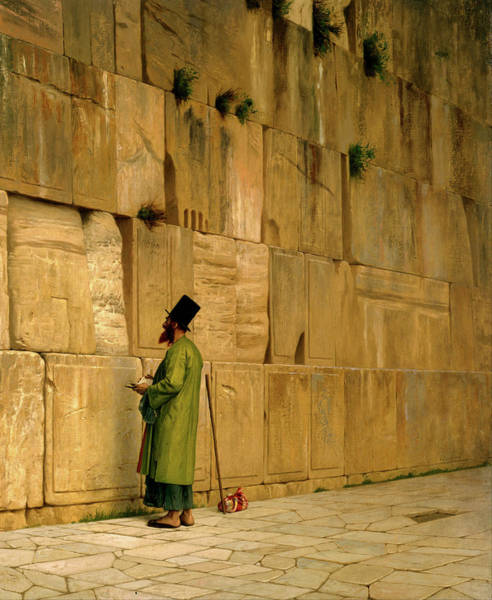Legion Of Honor Painting - The Wailing Wall  by Jean Leon Gerome