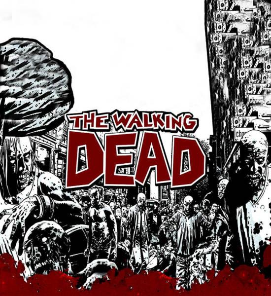 Wall Art - Digital Art - The Walking Dead by Geek N Rock