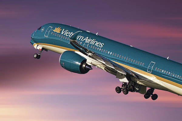 Wall Art - Mixed Media - Vietnam Airlines Airbus A350 by Smart Aviation