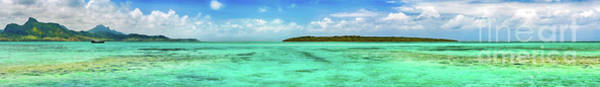 Wall Art - Photograph - View Of A Sea At Day Time. Mauritius. Panorama by MotHaiBaPhoto Prints