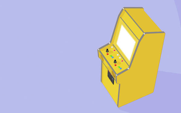 Pads Digital Art - Vintage Arcade Machine by Allan Swart