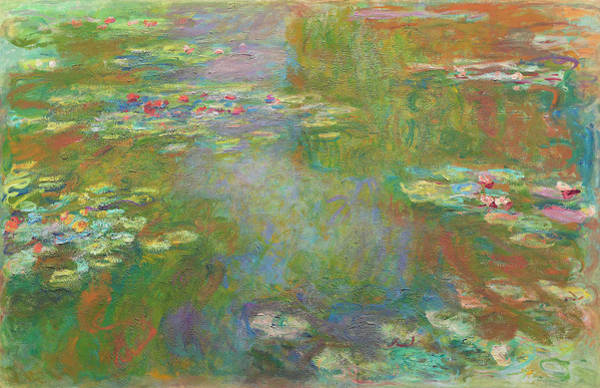 Digital Art - Water Lily Pond by Claude Monet