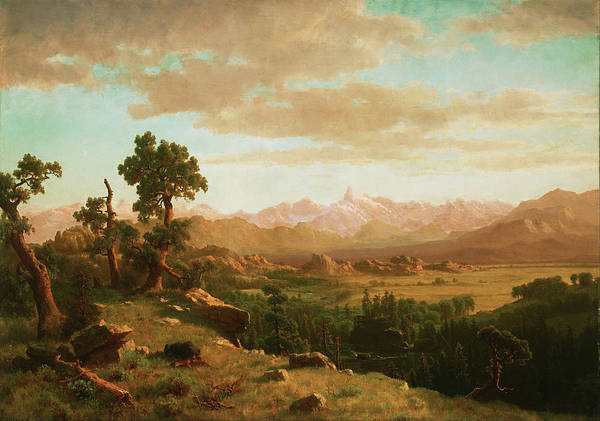 Painting - Wind River Country  by Albert Bierstadt