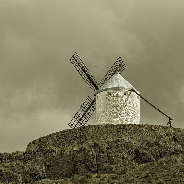 Wall Art - Photograph - Windmills, Consuegra, Spain by Ken Welsh
