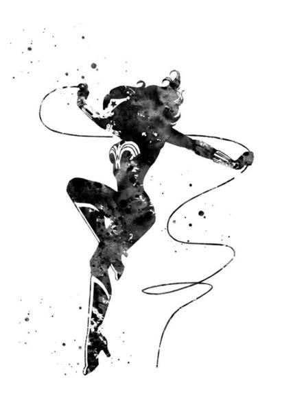Wall Art - Digital Art - Wonder Woman by Erzebet S