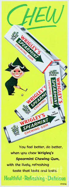 Wall Art - Photograph - Wrigleys Spearmint Chewing Gum by Picture Post