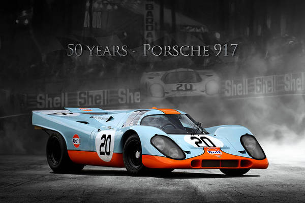 Wall Art - Digital Art - 50 Years Porsche 917 by Peter Chilelli