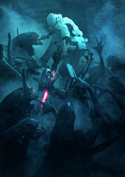 Sith Digital Art - 501 Vs Aliens 2 by Guillem H Pongiluppi
