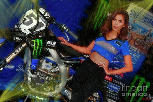 Photograph - 51 Justin Barcia Bam Bam Bike Monster Energy Girl by Blake Richards