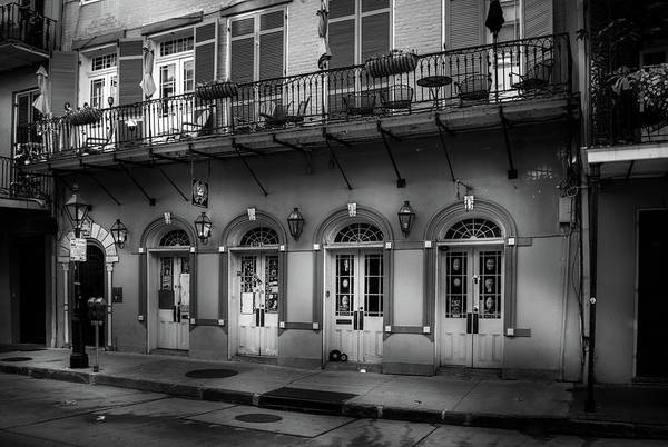 Wall Art - Photograph - 523 Dumaine Street In Black And White by Greg and Chrystal Mimbs