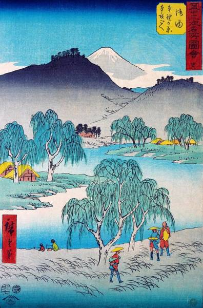 Wall Art - Painting - 53 Famous Views - Goyu, Honnogahara, Honzaka Pass by Utagawa Hiroshige
