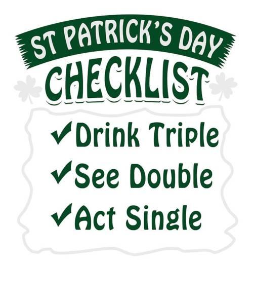 Wall Art - Photograph - St Patricks Day Party Shirt Shamrock Beer Gift Idea Light by Nikita Goel