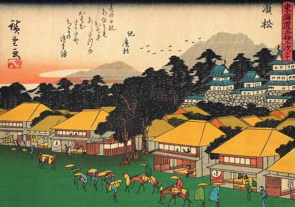 Wall Art - Painting - 53 Stations Of The Tokaido - Hamamatsu #2 by Utagawa Hiroshige