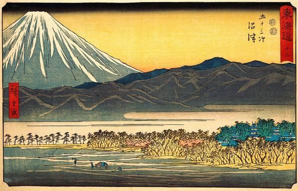 Wall Art - Painting - 53 Stations Of The Tokaido - Numazu by Utagawa Hiroshige
