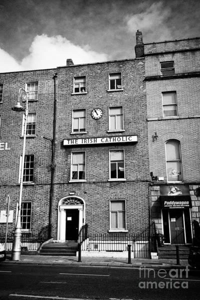 Wall Art - Photograph - 55 Lower Gardiner Street Dublin Former Home To The Irish Catholic Newspaper Republic Of Ireland Euro by Joe Fox