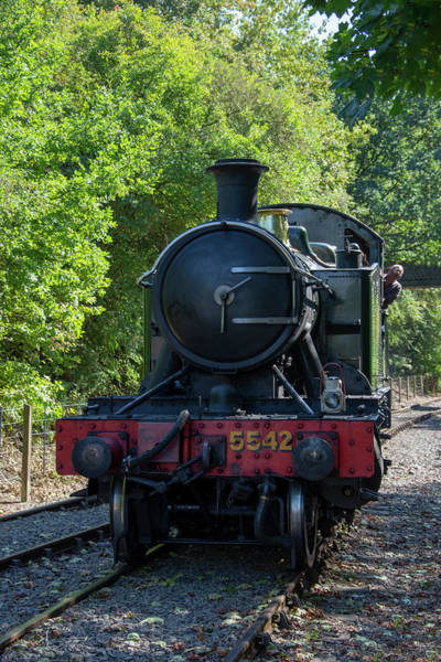 Photograph - 5542 On The The Points by Steam Train