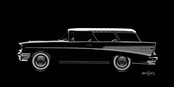 Digital Art - 57 Chevy Nomad by Peter J Sucy
