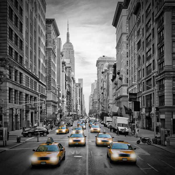 Wall Art - Photograph - 5th Avenue Nyc Traffic by Melanie Viola
