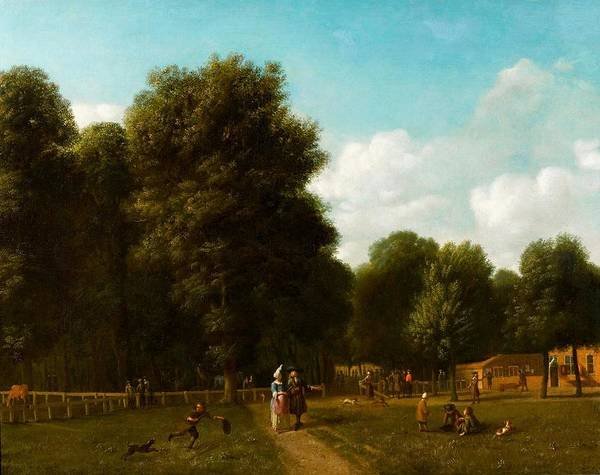 Wall Art - Painting - A View Of The The Haarlemmerhout by MotionAge Designs
