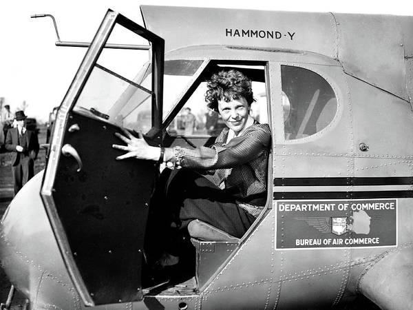 Photograph - Amelia Earhart, American Aviatrix by Science Source