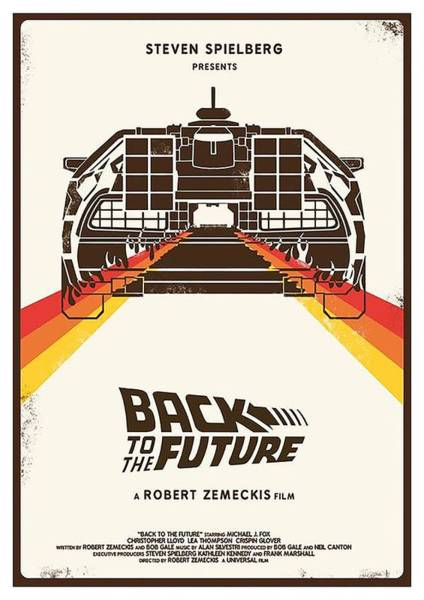 Wall Art - Digital Art - Back To The Future  by Geek N Rock