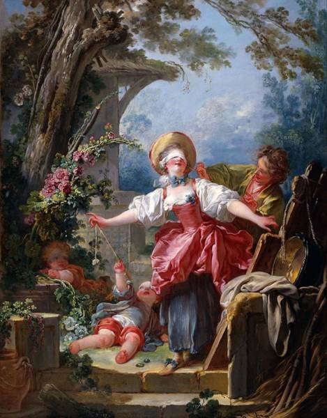 Wall Art - Painting - Blind-man's Buff by Jean-Honore Fragonard