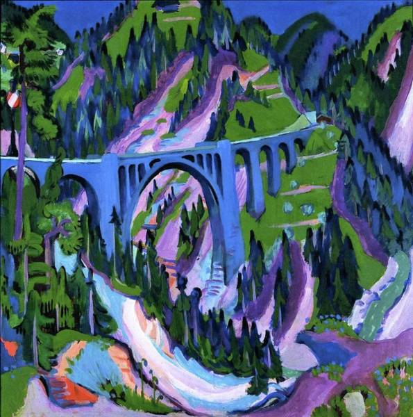 Wall Art - Painting - Bridge At Wiesen  by MotionAge Designs