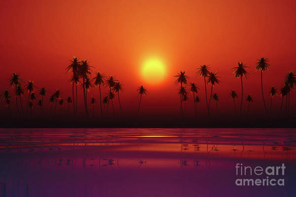 Wall Art - Photograph - Dramatic Red Sunset by Aleksey Tugolukov