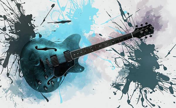 Play Music Digital Art - Electric Guitar  by Ian Mitchell