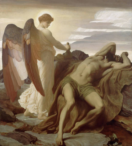 Wall Art - Painting - Elijah In The Wilderness by Frederic Leighton