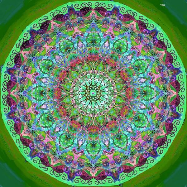 Vitrage Wall Art - Digital Art - Eye Mandala by Sandrine Kespi