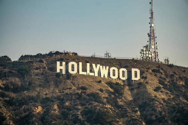 Photograph - Famous Hollywood Sign On A Hill In A Distance by Alex Grichenko