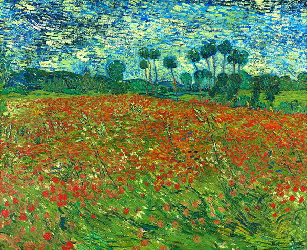 Rural Life Wall Art - Painting - Field With Poppies by Vincent Van Gogh