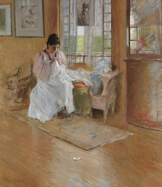 Sewer Painting - For The Little One by William Merritt Chase