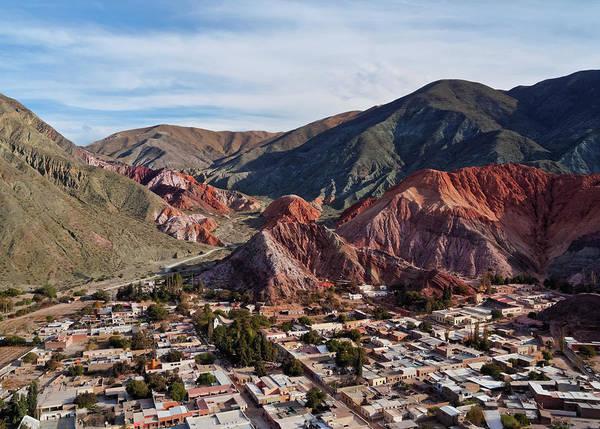 Wall Art - Photograph - Hill Of Seven Colours Cerro De Los Siete Colores Elevated View Purmamarca Jujuy Province Argentina by imageBROKER - Karol Kozlowski