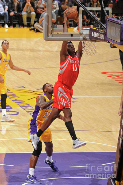 Photograph - Houston Rockets V Los Angeles Lakers by Andrew D. Bernstein