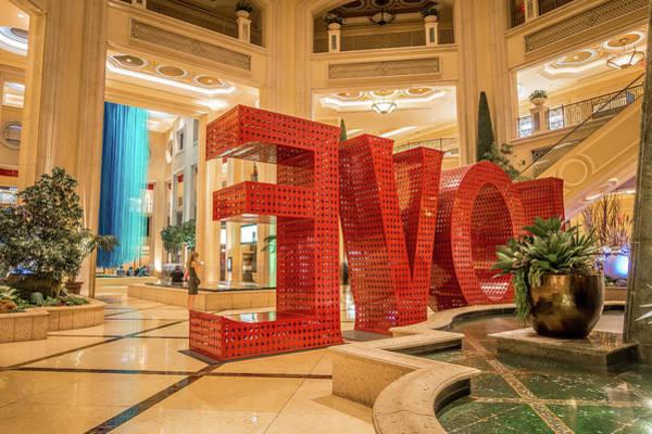 Christmass Photograph - Interior Halls And Decorations Around Las Vegas Nevada Hotels  by Alex Grichenko