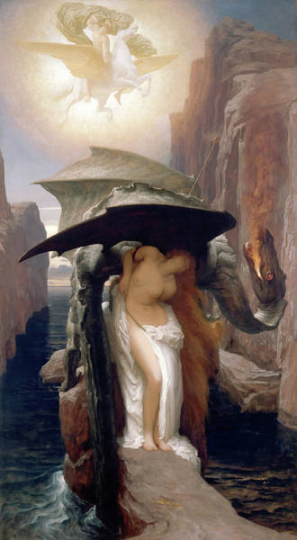 Wall Art - Painting - Perseus And Andromeda by Frederic Leighton