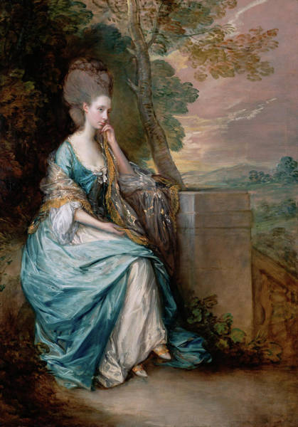 Wall Art - Painting - Portrait Of Anne, Countess Of Chesterfield by Thomas Gainsborough
