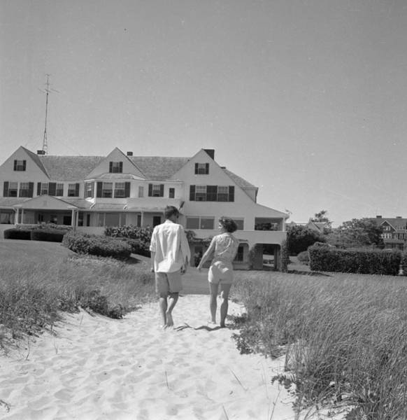 Photograph - Senator Kennedy Goes A Courting by Hy Peskin Archive