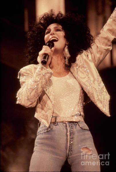Wall Art - Photograph - Singer Cher by Concert Photos