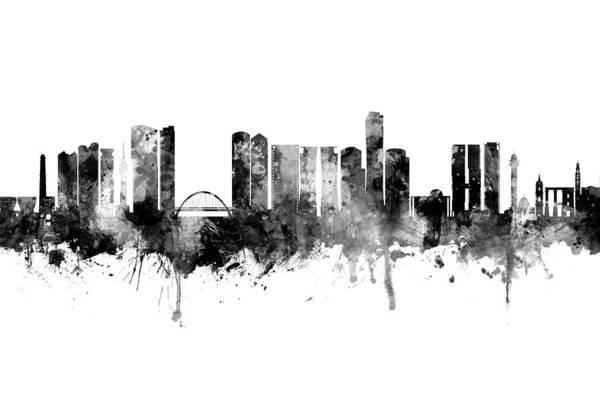 Wall Art - Digital Art - Tel Aviv Israel Skyline by Michael Tompsett